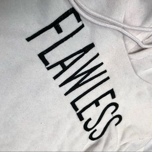 Cropped hoodie with text
